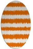 rug #324489 | oval orange stripes rug