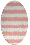 rug #324517 | oval white stripes rug