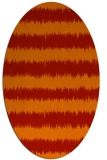 rug #324541 | oval red rug