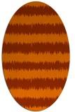 rug #324553 | oval red-orange stripes rug
