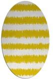 rug #324597 | oval yellow stripes rug
