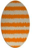 rug #324613 | oval orange stripes rug