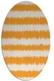 rug #324645 | oval light-orange popular rug