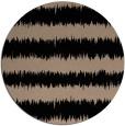 rug #325013   round black stripes rug
