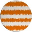 rug #325193 | round orange stripes rug