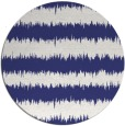 rug #325281 | round blue stripes rug