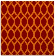 rug #327653 | square red-orange circles rug