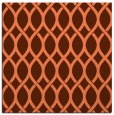 rug #327665 | square orange circles rug