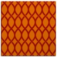rug #327709 | square red circles rug