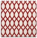 rug #327713 | square red circles rug