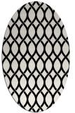 rug #327821   oval black circles rug