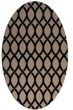 rug #327829 | oval black circles rug