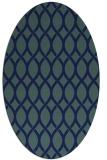 rug #327849 | oval blue rug