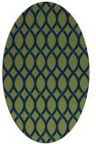 rug #327853 | oval green circles rug