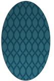 rug #327865 | oval blue-green circles rug
