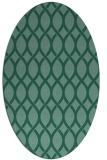 rug #327873 | oval blue-green circles rug