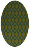 rug #327877 | oval green circles rug