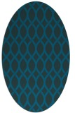 rug #327893 | oval blue-green circles rug