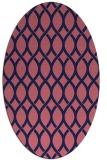rug #327909 | oval blue-violet circles rug
