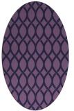rug #327913 | oval purple circles rug