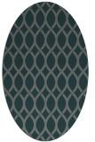 rug #327945 | oval green circles rug