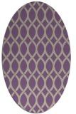 rug #327997 | oval purple circles rug