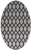 rug #328017 | oval orange circles rug