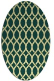 rug #328021 | oval yellow circles rug