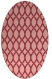 rug #328033 | oval pink circles rug
