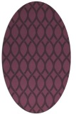 rug #328041 | oval purple circles rug