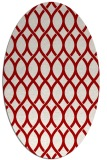 rug #328057 | oval red circles rug