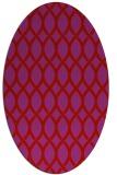 rug #328069 | oval red rug