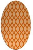 rug #328077 | oval red-orange circles rug