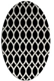 rug #328089 | oval white geometry rug