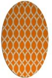rug #328133 | oval orange circles rug
