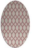 rug #328157 | oval pink rug