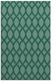 rug #328225    blue-green circles rug