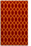 rug #328357 |  red-orange circles rug