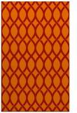 rug #328413 |  orange circles rug