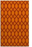 rug #328425 |  red-orange circles rug