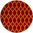 rug #328709 | round red-orange popular rug