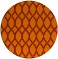 rug #328777   round red-orange circles rug