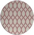 rug #328861 | round pink rug