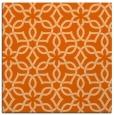 rug #329485 | square red-orange geometry rug