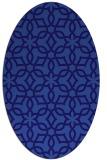 rug #329681 | oval blue-violet rug