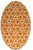 rug #329769 | oval orange geometry rug