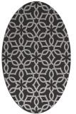 rug #329777 | oval red-orange geometry rug