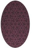 rug #329801   oval purple rug