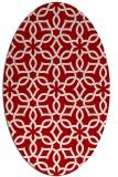 rug #329817 | oval red geometry rug