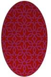 rug #329829 | oval red rug